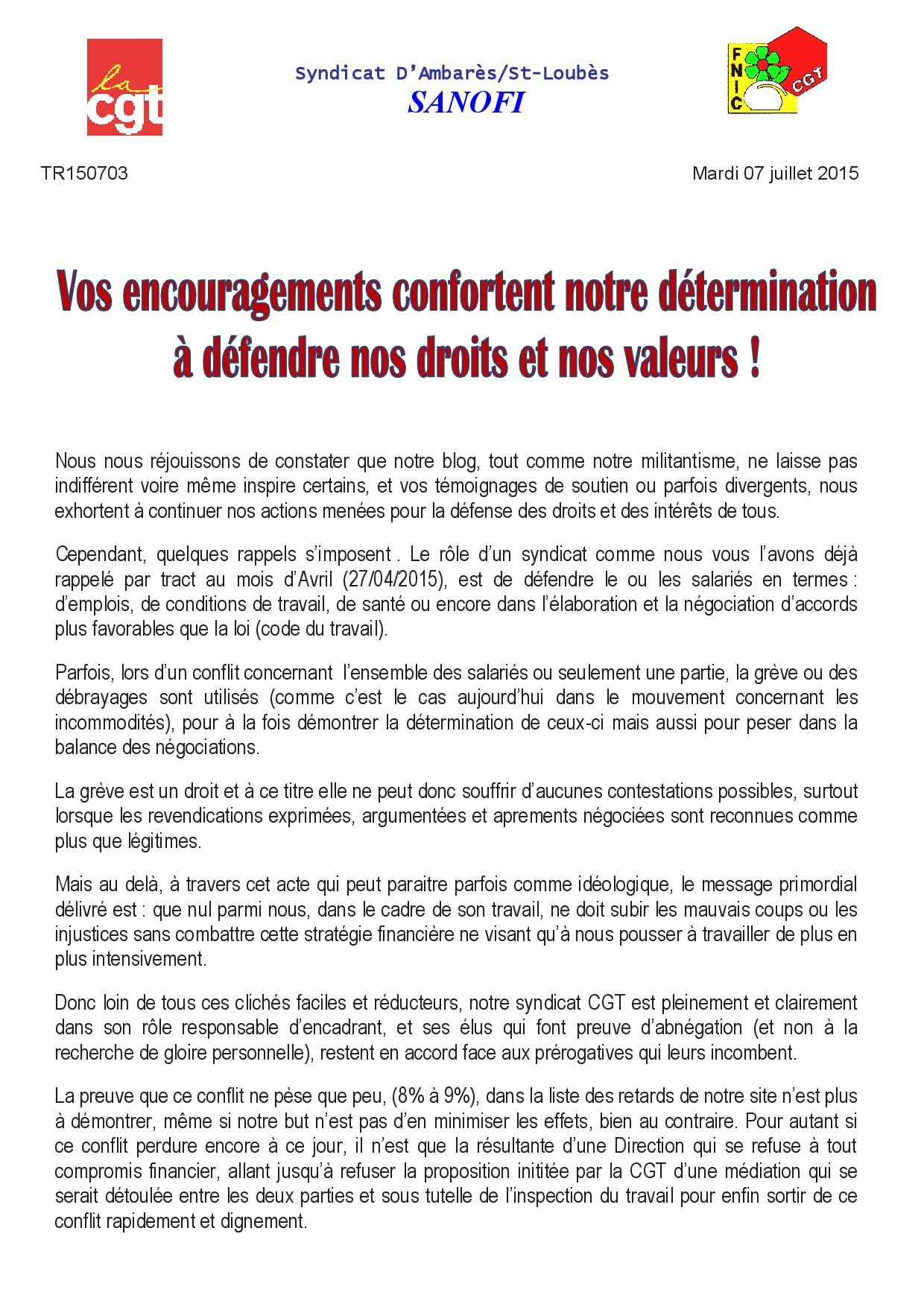 TR150703 grève du mardi 07 juillet 2015