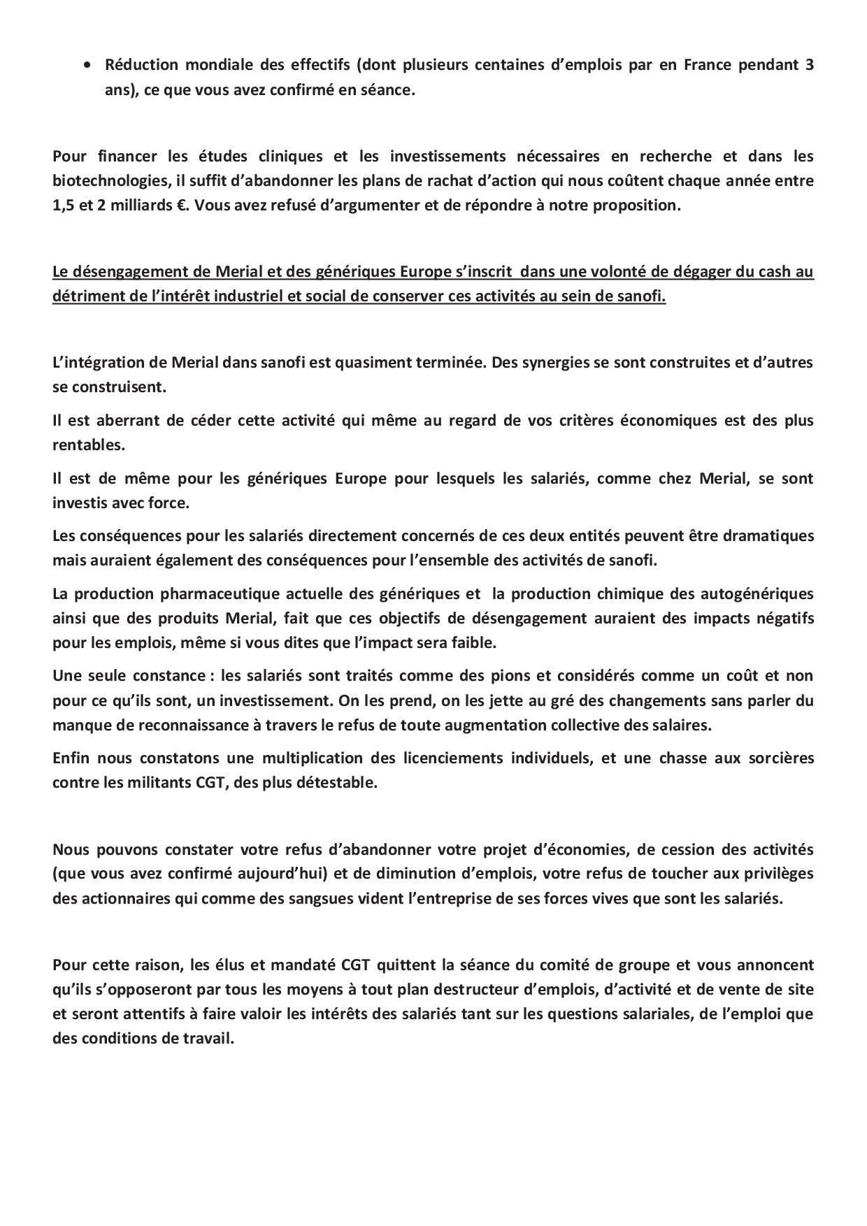 declaration cgt CGF 18 novembre2